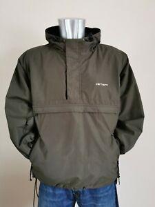 Carhartt WIP Nimbus fleece lined Pullover Jacket. Ideal festival Jacket Size S