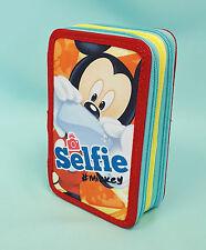 XXL 3 Fach Mickey Mouse  Selfie Federmäppchen 43 teilig Federmappe Disney