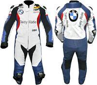 BMW HOMMES MOTOCYCLE COSTUME EN CUIR MOTO VESTE EN CUIR MOTARDS COURSES PANTALON