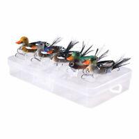 5pcs/box 7cm/10g Minnow Bait 3D Topwater Duck Wakebait Bass Pike Fishing Lure