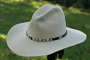Vintage Resistol Men's Cowboy Western Hat George Straight Size 7 3/8 SilverBelly