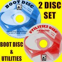 BOOT DISK EASY RESOLVE/REPAIR All WINDOWS SYSTEMS BOOT PROBLEMS PC/LAPTOPS 2 CD