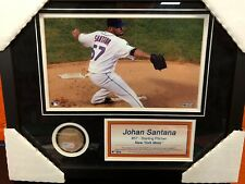 Johan Santana Mets 8x10 Framed Photo & Field Dirt From Citi Field - MLB
