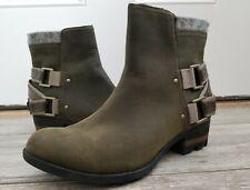 "Excellent! Women's SOREL ""LOLLA""  Leather Fall/Winter BOOTIE Boots sz 9.5"
