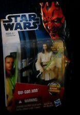 Hasbro Star Wars 2013 Qui-Gon Yinn figura con Grappling Hook Lanzador Nuevo