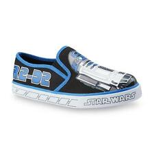 Star Wars Toddler Boy's R2-D2 Black/White/Blue Slip-On Shoe - Size 7 NWB