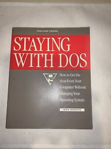 Vintage Disk Operating System BOOK & DISK DOS GUIDE IBM CLONE TANDY COMPAQ HP