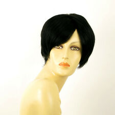 wig for women 100% natural hair black ref LAURA 1B PERUK