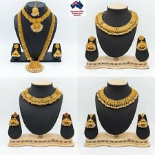 Traditional South Indian Guttapusalu Jewellery Pearl Gold Colour Set Jewelry