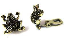 Bronze Frog Clipon Clip-on Earrings Womens Ladies Goth Kids Girls