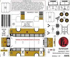 Kromhout trolleybus paper model cut out kit Papiermodell maquette carton recorte