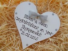 Congratulations On Your Engagement Heart Plaque Keepsake Gift
