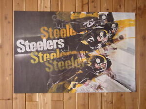 1968 1970 Pittsburgh Steelers  Sports Illustrated Poster - FLASH SALE