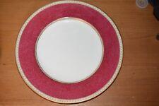 "Wedgwood Ulander Powder Ruby Dinner Plate 10.75"""