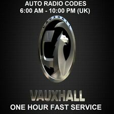 VAUXHALL BLAUPUNKT CAR RADIO UNLOCK CODE - FAST SERVICE