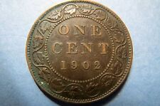 1902 Vintage CANADA  KING EDWARDS VII ONE CENT LARGE BRONZE COIN, 1st of SERIES