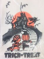 Vintage Haunted House Pirate Witch Halloween Paper Trick Treat Bags New 40 Pack