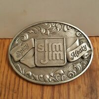 Vintage Slim Jim Promo Belt Buckle - Meat Snacks - Spicy Meaty Macho Manly