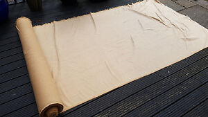 Upholstery Fabric Tan Sand Cotton Mix 10metres Roll Luxury Boat Camper Caravan