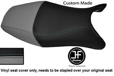 GREY & BLACK VINYL CUSTOM FOR HONDA CBR 1100 XX SUPER BLACKBIRD 96-07 SEAT COVER