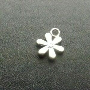 Small Flower Pendant Tibetan Antique Silver Tone Jewellery Pack of 10