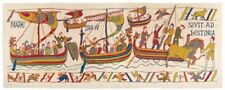 "NEW 76"" X 27"" TAPESTRY WALL HANGING REPRODUCTION OF ARMADA FROM BAYEUX TAPESTRY"