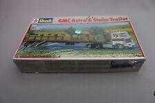 ZA027 Revell Ceji Maquette Ho 2103 GMC Astro 95  remorque plateau stake trailer