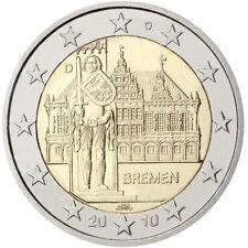 GERMANIA 2010: SERIE 5 MONETE DA 2 EURO COMMEMORATIVO ORLANDO A BREMA