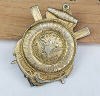 RARE Vintage US Volunteer Lifesaving Corps Named Badge Pin - Newark NJ