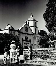 1950 Original Photo Mission San Luis Rey de Francia on Mission Ave. Oceanside CA