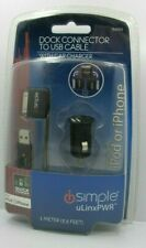 iSimple Dock Connector to USB Cable w/ Car Charger for iPod & iPhone quick charg