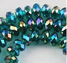 DIY Jewelry Faceted 146pcs 3x4mm Peacock green AB Crystal Faceted Loose Beads