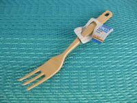 "Vintage Ekco Versa Tools Melamine Cooking Fork 3 tine 11.5"" Almond New Old Stock"