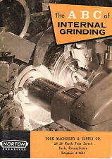 Abc of Internal Grinding 1961 Booklet Norton Abrasives Worcester Ma B&W Photos