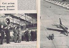 COUPURE DE PRESSE CLIPPING 1956 Le MIRAGE IV A de DASSAULT aviation (4 pages)