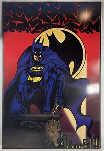 Batman The Dark Knight Vintage 90's Picture Panel Print On Wood #RARE