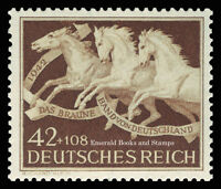 EBS Germany 1942 Brown Ribbon Horse Race Michel 815 MH*