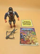 Dragstor W Weapon & Comic masters of the Universe He-Man Horde Lot MOTU Mattel