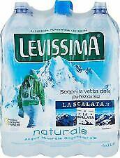 ACQUA NATURALE LEVISSIMA LT. 2 X 6 BOTTIGLIE Oligom.X36CASSE DALLE MONTAGNE ALPI