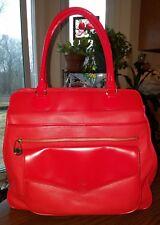 Isaac Mizrahi Live Large Pebbled Patent Red Leather Purse Shoulder Bag