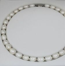 Brand New Real Freshwater Pearl Necklace with Silver Clasp Gift Souvenir Delny