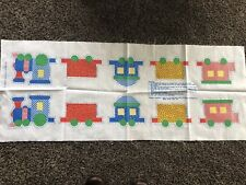 Vintage Cotton~Train Pillow Panel Spring Mills 7604 Primary colors~Baby toy