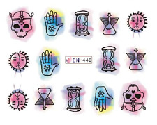 Nail Art Decals Transfers Stickers Halloween Skulls (DB440)