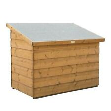 More details for rowlinson garden patio chest - natural timber/honey brown finish
