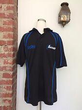 Kooga Rugby Jersey Aukland NZ Mens Size M Short Sleeve Polo Black Blue Shirt