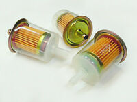 """3x 5/16""""  8mm Clear Inline Gasoline Fuel Filters Engine Gas Olds Pont Lawn Mower"""