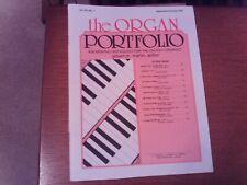 The Organ Portfolio, Journal, September/October 2002, organ (Lorenz)