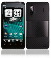 Skinomi Carbon Fiber Black Phone Skin+LCD SP for HTC Evo Design 4G Boost Mobile