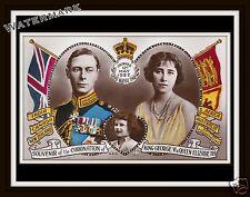 Wall Art Queen Elizabeth & King George VI Coronation Souvenir  Year 1937  8x10