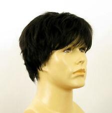 Perruque homme 100% cheveux naturel noir ref JACQUES 1b